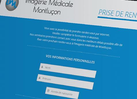 Nouvelle création de site internet : Imagerie Médicale Montluçon
