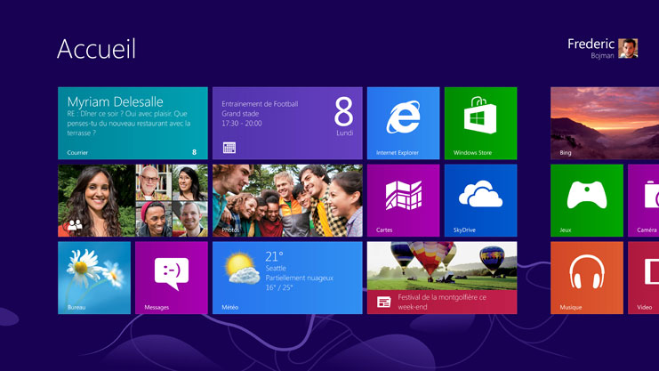 Accueil Windows 8