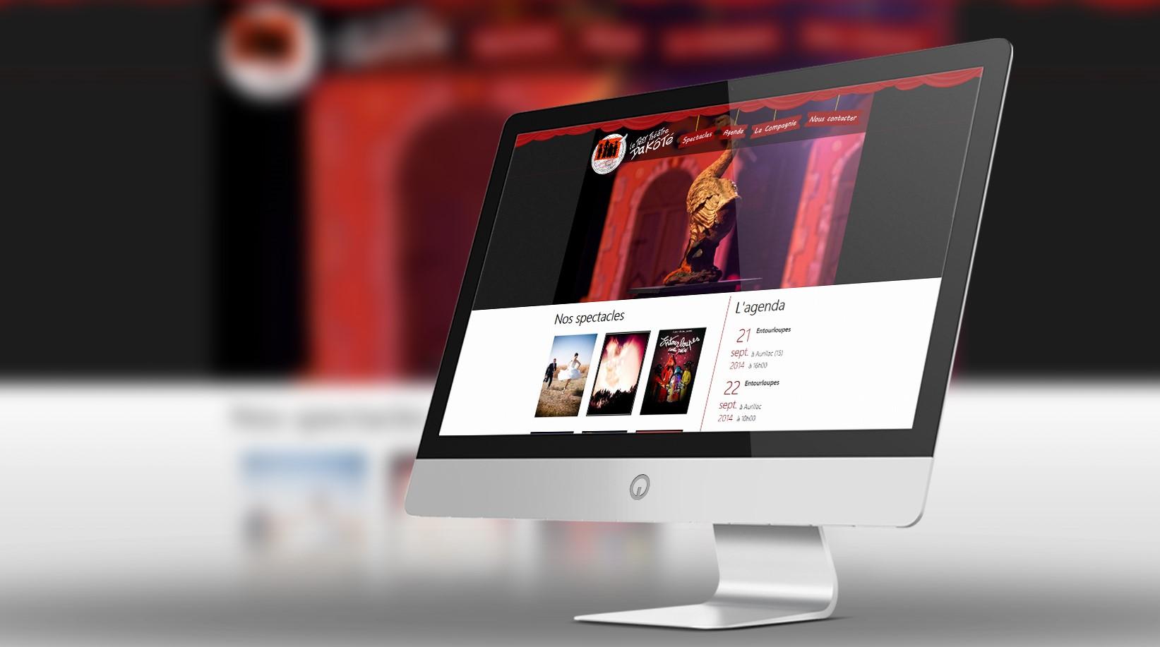 Site internet Le Petit Théâtre Dakôté