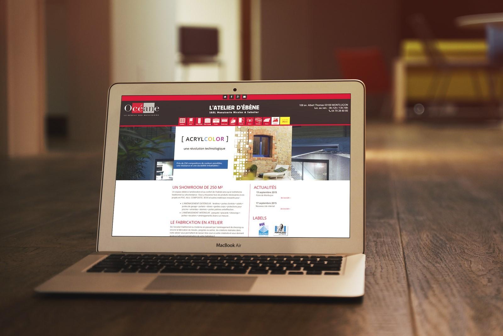 Atelier Ebene - Site internet