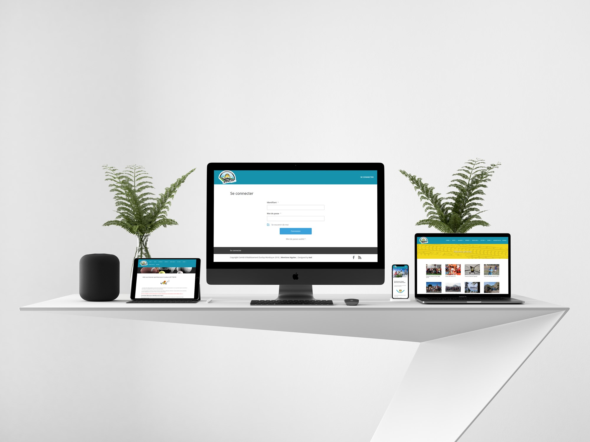 CE Dunlop - Création site internet