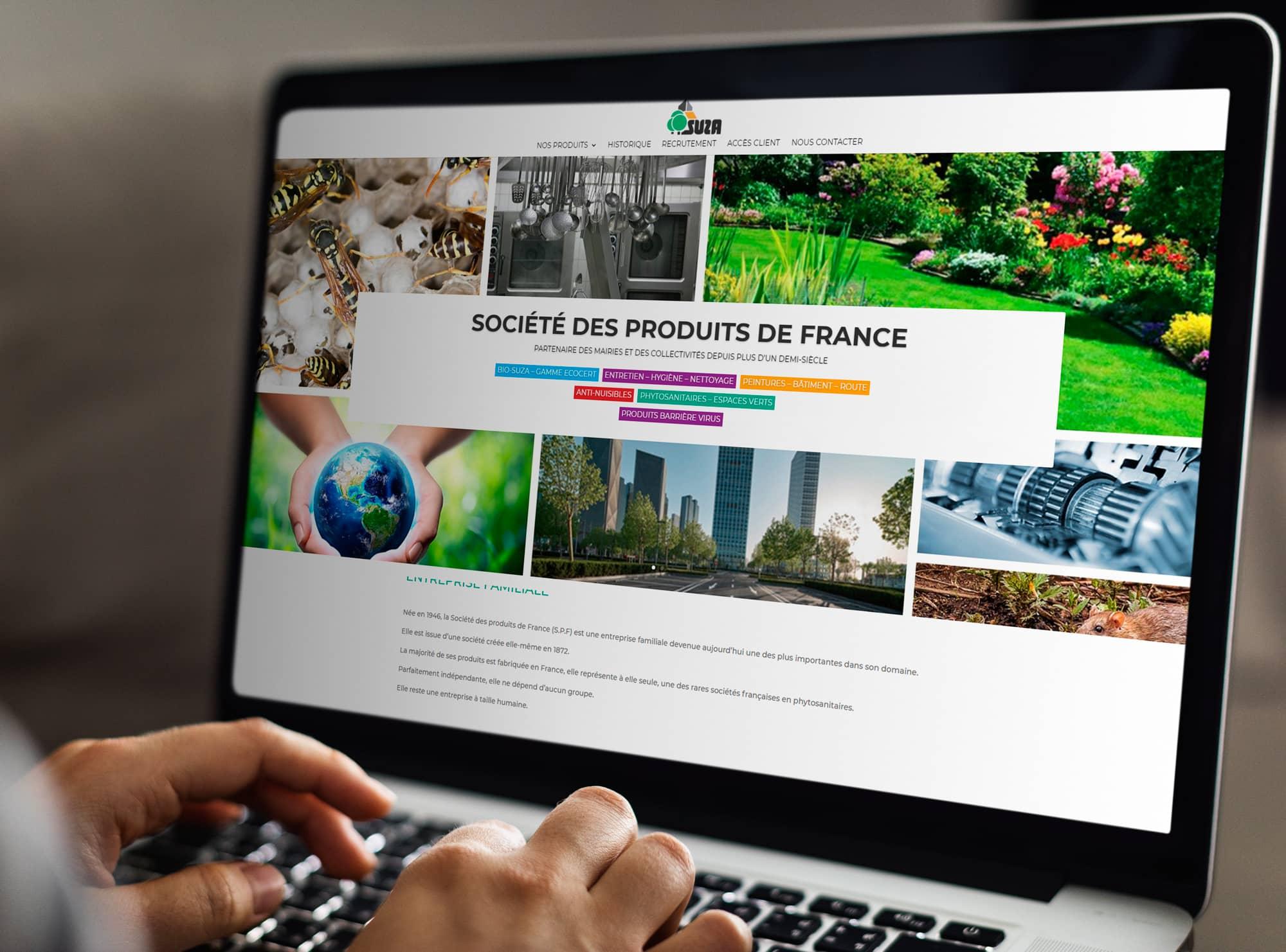 Création site internet Société Produits de France
